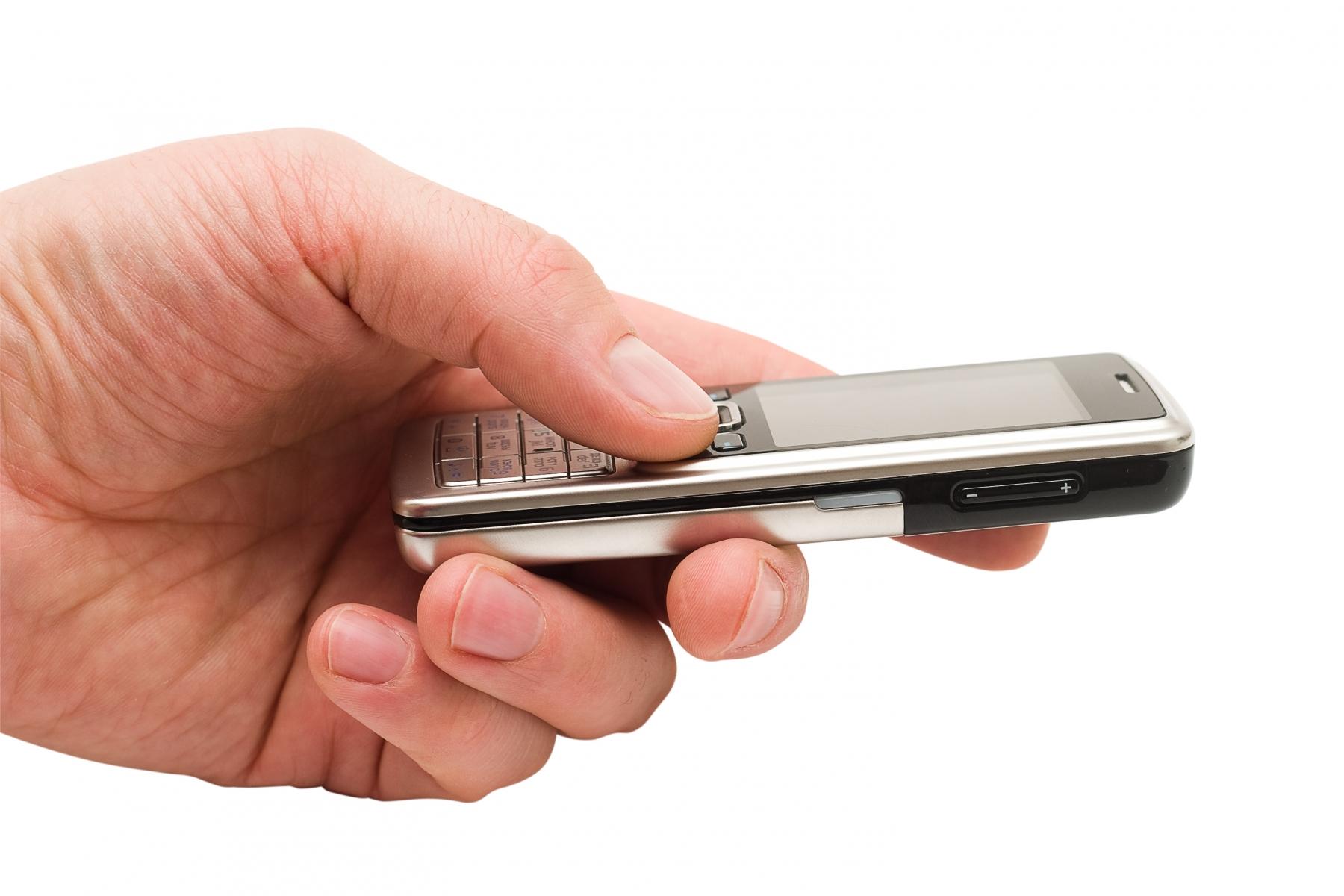 mobiltelefon hand