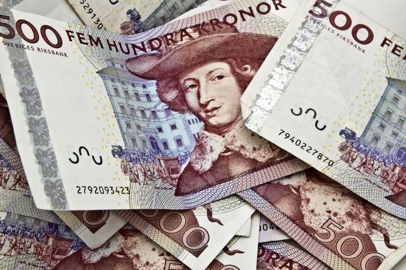 svenska femhundra kronor pengar